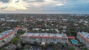 Boca Raton aerial view, Florida coastline.  stock image