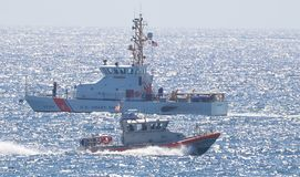Florida`s Boca Raton Beach was the scene of a dramatic ocean search by the U.S. Coast Guard. The Boca Raton Beach was the scene of a dramatic search for a Cuban stock image