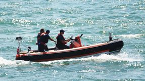 Florida`s Boca Raton Beach was the scene of a dramatic ocean search by the U.S. Coast Guard. The Boca Raton Beach was the scene of a dramatic search for a Cuban royalty free stock photos