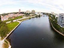 Boca Raton Inlet lizenzfreie stockfotos