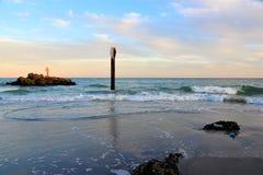 Boca Raton Inlet au coucher du soleil photo libre de droits