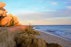 Boca Raton Inlet en la puesta del sol Foto de archivo libre de regalías
