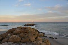 Boca Raton Inlet View Toward l'est au coucher du soleil photographie stock