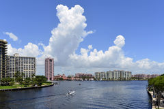 Boca Raton. Luxury waterfront development of homes, docks, condominiums and hotels in boca raton, florida Royalty Free Stock Photo