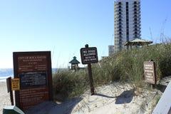Boca Raton plaży znaki Obrazy Stock