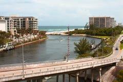 Boca Raton vattenvägar Arkivbild