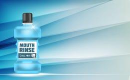 Boca Rinse Design Cosmetics Product Template para los anuncios o Magazi Foto de archivo