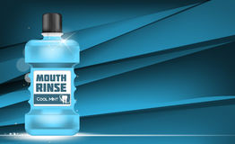 Boca Rinse Design Cosmetics Product Template para los anuncios o Magazi stock de ilustración