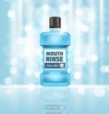 Boca Rinse Design Cosmetics Product Template para los anuncios o Magazi ilustración del vector