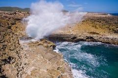 Boca shete Nationalpark Curaçao stockfotos