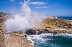 Boca shete Nationalpark Curaçao lizenzfreie stockbilder