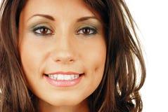 Boca sonriente atractiva de la mujer Fotografía de archivo libre de regalías