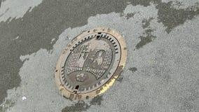 Boca vieja del alcantarillado Fotografía de archivo