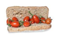 Bocadillo con los tomates, aún imagen de la vida Fotografía de archivo libre de regalías