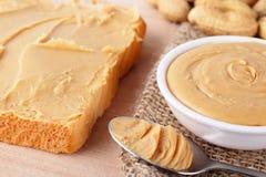 Bocadillo con mantequilla de cacahuete Imagen de archivo libre de regalías