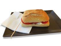 Bocadillo de Caprese con la mozzarella y el tomate Imagen de archivo libre de regalías