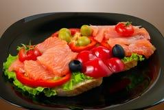 Bocadillo de color salmón Fotografía de archivo libre de regalías