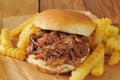 Bocadillo de la carne de vaca de la barbacoa Fotos de archivo libres de regalías