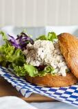 Bocadillo de la ensalada de pollo Imagen de archivo