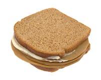 Bocadillo de pavo del queso de soja con Mayo Foto de archivo libre de regalías
