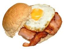 Bocadillo del huevo y del tocino imagen de archivo