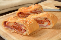 Bocadillo del rollo de pan italiano Imagen de archivo