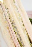 Bocadillo fresco en el fondo blanco Fotos de archivo