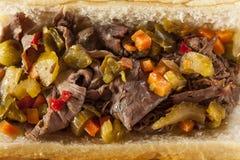 Bocadillo italiano caluroso de la carne de vaca Foto de archivo libre de regalías