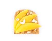 Bocadillo sano de la mantequilla de cacahuete Foto de archivo libre de regalías