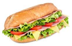 Bocadillo submarino de la ensalada del jamón y del queso de Imagen de archivo libre de regalías