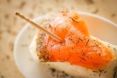 Bocado de color salmón Imagen de archivo libre de regalías
