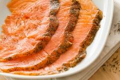 Bocado de color salmón Foto de archivo