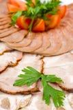 Bocado de la carne fría, macro Foto de archivo libre de regalías