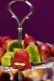 Bocado del canape de la fruta Imagen de archivo