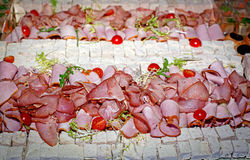 Bocado del frío de la carne Imagen de archivo libre de regalías