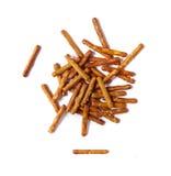 Bocado del partido de los palillos del pretzel Imágenes de archivo libres de regalías