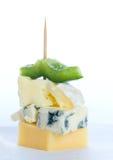 Bocado del queso Imagen de archivo libre de regalías