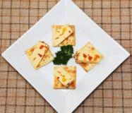 Bocado del queso de la fruta. Fotografía de archivo libre de regalías