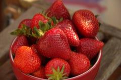 Bocado dulce rojo de la fruta del verano imagen de archivo