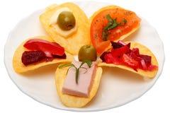 Bocado en las patatas fritas imagen de archivo libre de regalías
