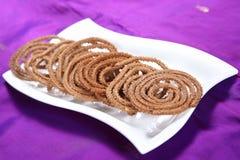 Bocado frito arroz de Mappillai Samba Murukku/de la samba Imagen de archivo