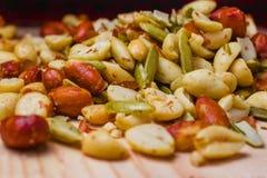 Bocado mexicano de los pipas de los pepitas o de Cacahuates salado en Ciudad de México foto de archivo