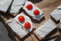 Bocado sano de la comida campestre Fotos de archivo