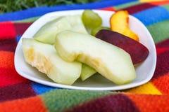 Bocado sano de la fruta fresca cortada Imagen de archivo