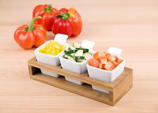 Bocado sano - verduras frescas Imagen de archivo