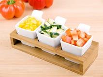 Bocado sano - verduras frescas Fotografía de archivo libre de regalías