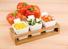 Bocado sano - verduras frescas Foto de archivo libre de regalías