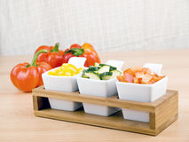 Bocado sano - verduras frescas Imagen de archivo libre de regalías