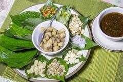 Bocado tradicional de Miang Kham de Tailandia y de Laos Foto de archivo libre de regalías