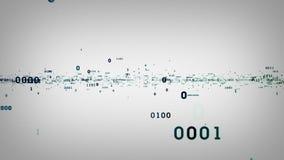 Bocados binários e bytes brancos ilustração stock
